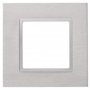 14-5201-03 ЭРА Рамка на 1 пост, металл, Эра Elegance, алюминий+алюм (10/50/1800)