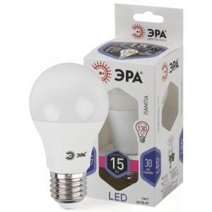 LED A60-15W-860-E27 ЭРА (диод, груша, 15Вт, хол, E27) (10/100/1500)