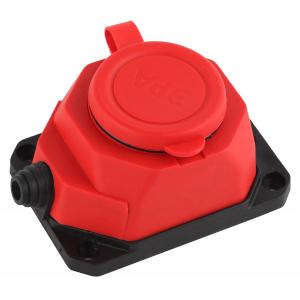K-1e-RED-IP44 ЭРА Колодка каучуковая с/з 1гн 16A IP44 красная (24/240/1440)