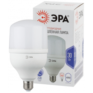 LED POWER T100-30W-6500-E27 ЭРА (диод, колокол, 30Вт, хол, E27) (20/480)