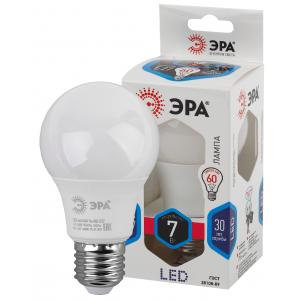LED A60-7W-840-E27 ЭРА (диод, груша, 7Вт, нейтр, E27) (10/100/1500)