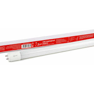 ECO LED T8-10W-840-G13-600mm ЭРА (диод,трубка стекл,10Вт,нейтр,непов. G13) (30/1260)