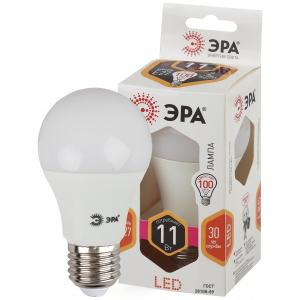 LED A60-11W-827-E27 ЭРА (диод, груша, 11Вт, тепл, E27) (10/100/1200)