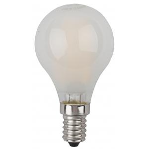 F-LED P45-5W-827-E14 frost ЭРА (филамент, шар мат., 5Вт, тепл, E14) (10/100/3000)