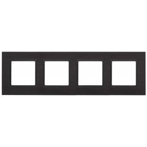 14-5204-05 ЭРА Рамка на 4 поста, металл, Эра Elegance, чёрный+антр (5/25/900)