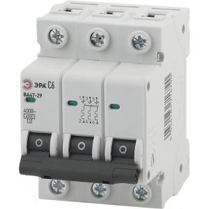 ЭРА Автоматический выключатель NO-902-117 ВА47-29 3P 10А кривая C (4/60/1260)