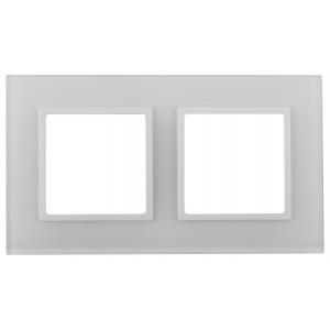 14-5102-01 ЭРА Рамка на 2 поста, стекло, Эра Elegance, белый+бел (5/50/1200)
