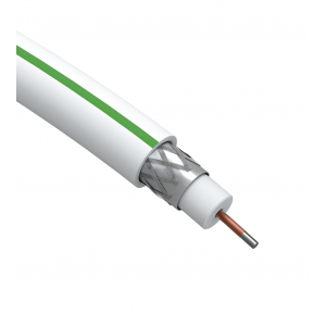 ЭРА Кабель коаксиальный SAT 703 B,75 Ом, CCS/(оплётка Al, 75%), PVC,цвет белый,  бухта 50 м, SIMPLE