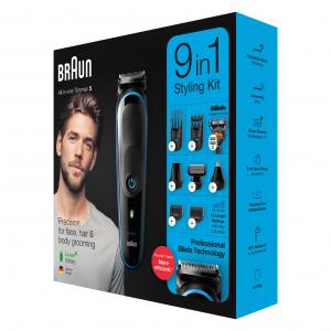 Braun Электрический триммер MGK5280 + Бритва Gillette + 2 кас + чехол (3/300)