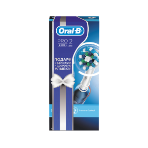 ORAL-B Э/щетка Pro 2 (2000)/D501.513.2 Cross Action (белый бант) (3/375)