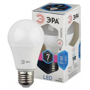 LED A55-7W-840-E27 ЭРА (диод, груша, 7Вт, нейтр, E27) (6/30/1800)