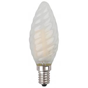 F-LED BTW-5W-840-E14 frost ЭРА (филамент, свеча витая мат., 5Вт, нейтр, E14) (10/100/2800)