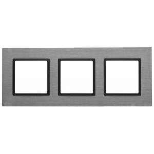 14-5203-42 ЭРА Рамка на 3 поста, металл, Эра Elegance, титан+антр (5/25/900)
