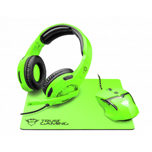 22463 Кл+мышь Trust GXT790-SB SPECTRA, зеленый (10/120)