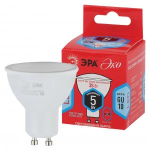 ECO LED MR16-5W-840-GU10 ЭРА (диод, софит, 5Вт, нейтр, GU10) (10/100/4800)