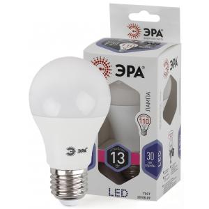 LED A60-13W-860-E27 ЭРА (диод, груша, 13Вт, хол, E27) (10/100/1200)