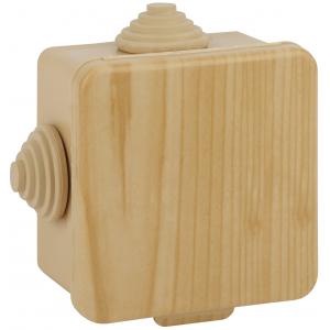 ЭРА Коробка распаячн. открытой установки КОР (сосна) 65х65х50мм с гермовводами 4 вх. IP54 (45/1620)