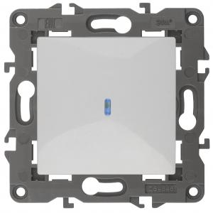 14-1102-01 ЭРА Выключатель с подсветкой, 10АХ-250В, IP20, Эра Elegance, белый (10/100/3000)