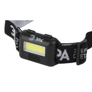 GB-607 Фонарь ЭРА налобный  с влагозащитой [3Вт COB LED Extra, 3хААА, бл] (10/60/1440)