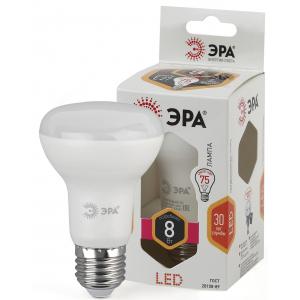 LED R63-8W-827-E27 ЭРА (диод, рефлектор, 8Вт, тепл, E27), (6/30/1200)
