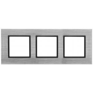 14-5203-41 ЭРА Рамка на 3 поста, металл, Эра Elegance, сталь+антр (5/25/750)