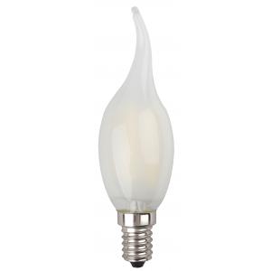 F-LED BXS-5W-840-E14 frost ЭРА (филамент, свеча на ветру мат., 5Вт, нейтр, E14) (10/100/2800)