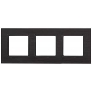 14-5203-05 ЭРА Рамка на 3 поста, металл, Эра Elegance, чёрный+антр (5/25/900)