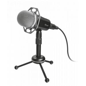 21752 Trust Стрим микрофон Radi All-round ПРОФИ USB 3.5мм (20/300)
