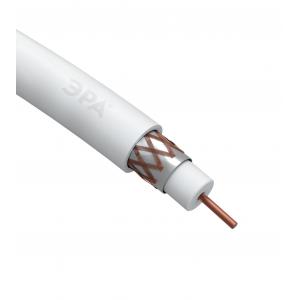 ЭРА Кабель коаксиальный RG-6U, 75 Ом, Cu/(оплётка Cu 64%), PVC, цвет белый, бухта 100 м (4/96)