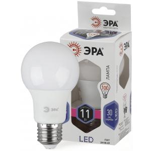 LED A60-11W-860-E27 ЭРА (диод, груша, 11Вт, хол, E27) (10/100/1500)