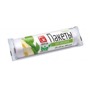 Grifon Пакеты для завтраков Bio, 1 л,18 х 28 см, 200 шт. в рулоне, в упак. (30/1500)