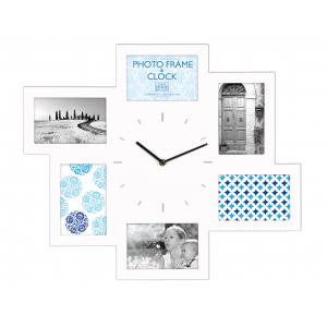 Innova Часы - мультирамка W07368, материал МДФ, 46x54 см, цвет белый (6/48)