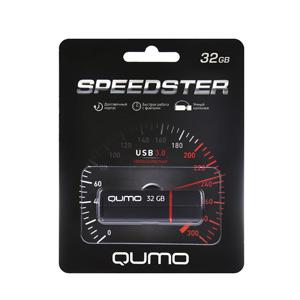 Флэш-диск QUMO 32 Gb Speedster  Black USB 3.0 (500)