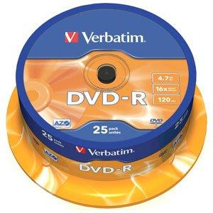 43522 Verbatim DVD-R 4.7Gb, 16x Cake (25)* (25/200/14000)