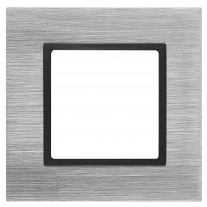 14-5201-41 ЭРА Рамка на 1 пост, металл, Эра Elegance, сталь+антр (10/50/1500)