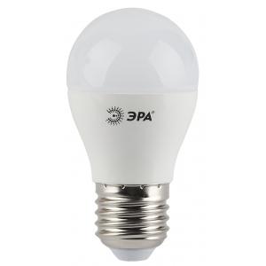 LED P45-5W-827-E27 ЭРА (диод, шар, 5Вт, тепл, E27) (6/60/2400)