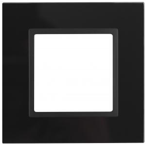 14-5101-05 ЭРА Рамка на 1 пост, стекло, Эра Elegance, чёрный+антр (10/50/1500)