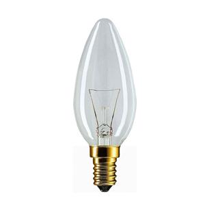 011633 Philips B35 40W E14 230V свеча CL (10/100/7200)