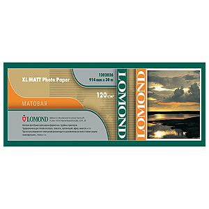 1202062 Lomond Матовая бумага для САПР и ГИС 120 г/м2 (914 x 30 x 50,8),для ч/б и цв. печати. (30)