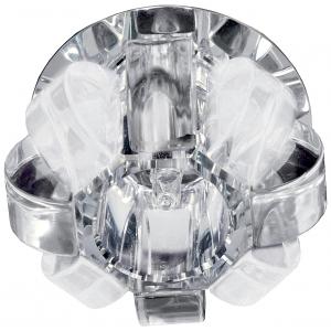 "DK31 CH/WHMWH Светильник ЭРА декор ""корона"" G9,40W,220V, JCD хром/прозрачный/матовый (50/500)"