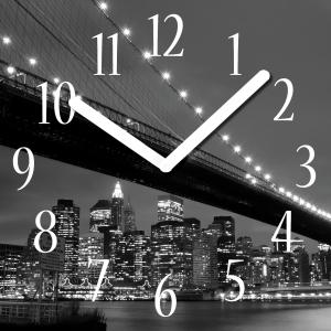 "Innova Часы W09661 ""Мост"", квадратные, стекло, размер 30*30 см (10/120)"