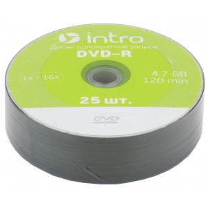 Intro DVD-R INTRO 16х 4,7GB  Shrink 25 (25/500/22500)