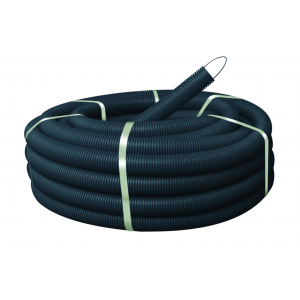 Гофра ПНД ЭРА Труба гофрированная ПНД (черный) d 32мм с зонд. легкая 50м (10)