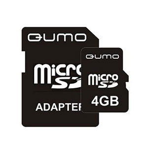 QUMO Micro SDHC 04 Gb Class 4 + adapt (1000)
