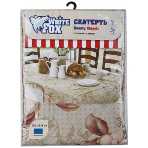 White Fox Скатерть ПВХ с основой из флиса, 152*228 см.Микс цветов (5/15/360)