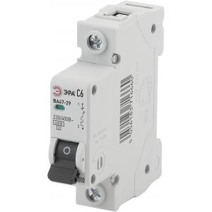 ЭРА Автоматический выключатель NO-902-100 ВА47-29 1P 6А кривая C (12/180/5040)