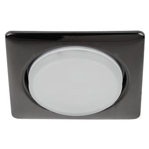 KL71 BK Светильник ЭРА под лампу Gx53 квадр.,220V, 13W,черный металл (40/1600)