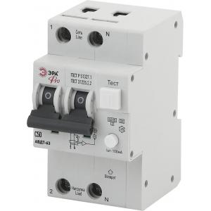 ЭРА Pro Автоматический выключатель дифференциального тока NO-902-01 АВДТ 63 C50 100мА 1P+N тип A (60