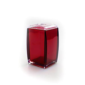 WBTH24-125 White Fox Стакан для зубных щеток, красный 6,5*6*11см (24/1440)