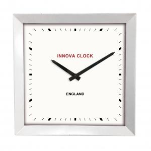Innova Часы W09648, квадратные металлические, размер 29*29 см, цвет белый (12/144)